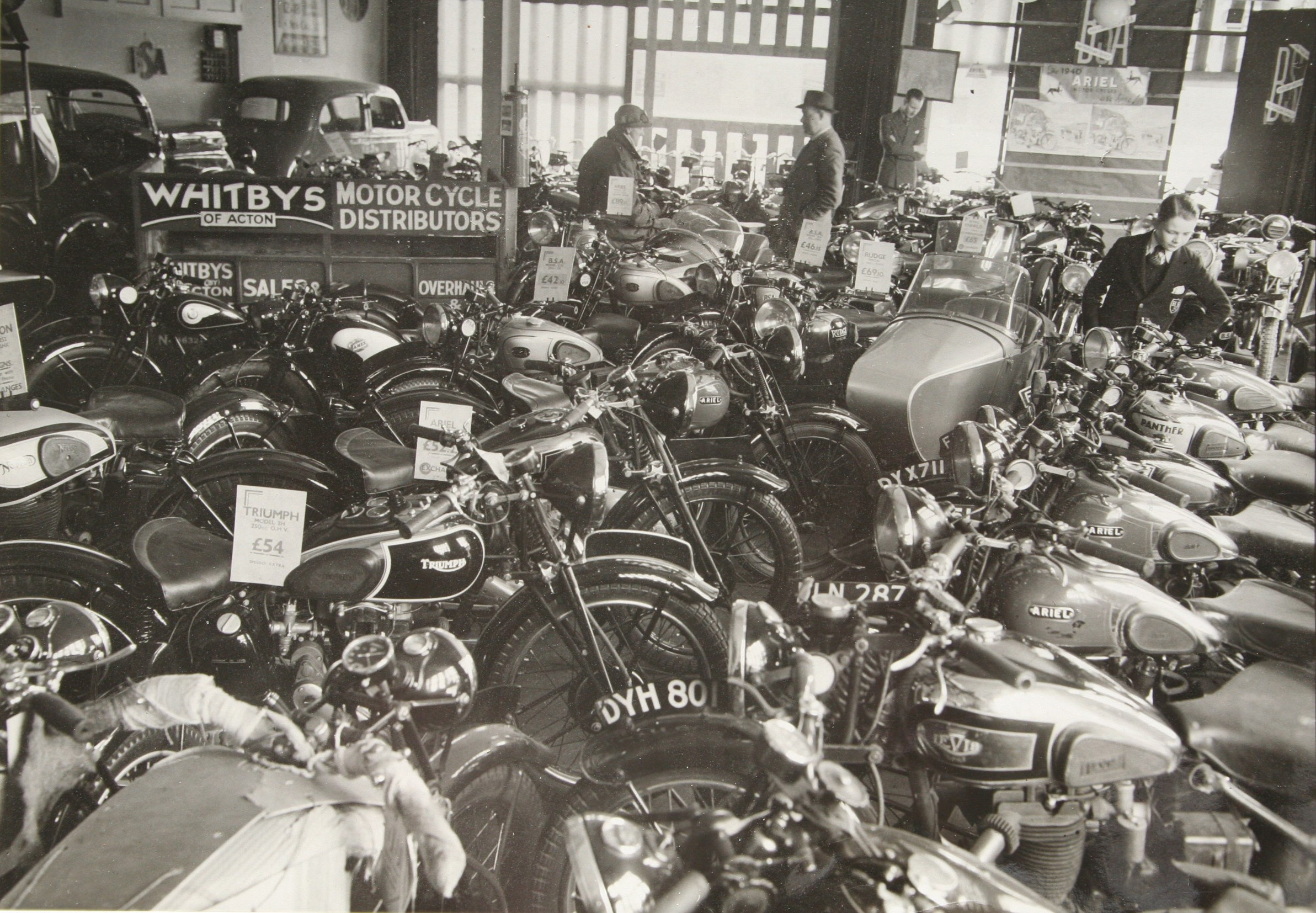Whitbys of Acton motor bikes